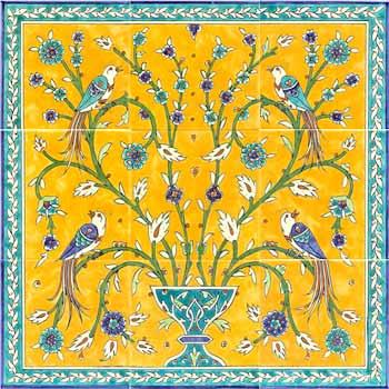 seven color tile panel