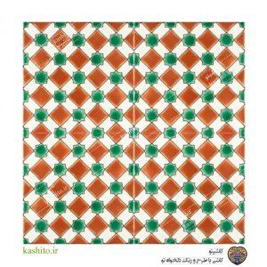 کاشی رنگی طرح مراکشی